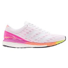 adidas Adizero Boston 9 Womens Running Shoes, White, rebel_hi-res