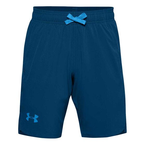 Under Armour Boys Woven Shorts, Blue, rebel_hi-res