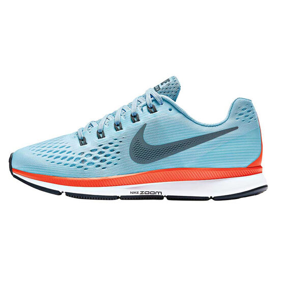 Nike Air Zoom Pegasus 34 Womens Running Shoes Blue   Orange US 6 ... 33c1d4d59e