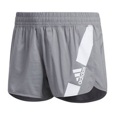 adidas Womens Pacer Disrupt Shorts Grey XS, Grey, rebel_hi-res