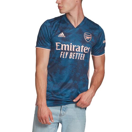 Arsenal FC 2020/21 Mens 3rd Jersey, Blue, rebel_hi-res