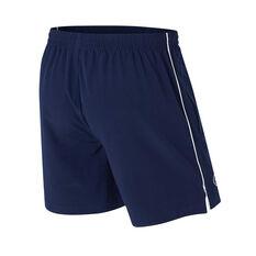 Carlton Blues Mens Core Training Shorts Blue S, Blue, rebel_hi-res