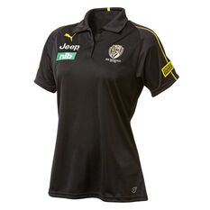 Richmond Tigers 2019 Womens Team Polo Brown / Yellow S, Brown / Yellow, rebel_hi-res