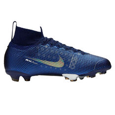 Nike Mercurial Superfly VII Elite Kids Football Boots Blue / Silver US 1, Blue / Silver, rebel_hi-res