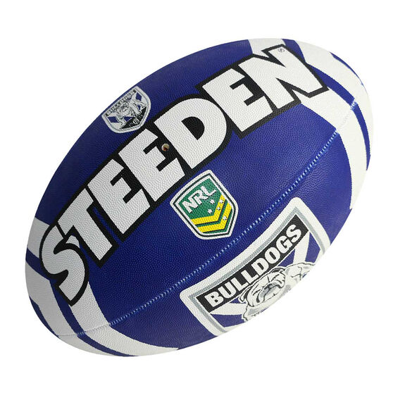 Steeden NRL Canterbury Bulldogs Supporter Rugby League Ball, , rebel_hi-res
