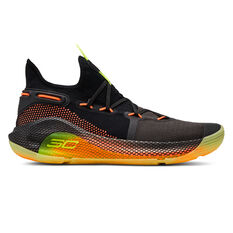 Under Armour Curry 6 Mens Basketball Shoes Black / Yellow US 7, Black / Yellow, rebel_hi-res