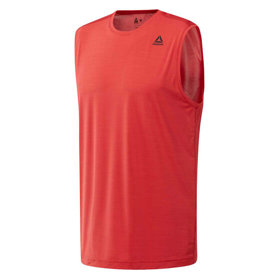 Reebok Mens Workout Ready ACTIVCHILL Tank, Red, rebel_hi-res
