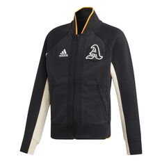 adidas Girls VRCT Jacket Black / White 8, Black / White, rebel_hi-res
