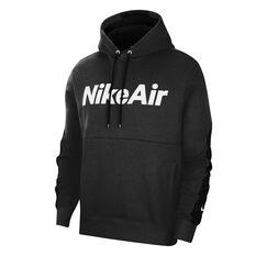 Nike Air Mens Fleece Hoodie Black XS, Black, rebel_hi-res