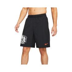 Nike Men's Dri-FIT Woven Graphic Training Shorts Black S, Black, rebel_hi-res