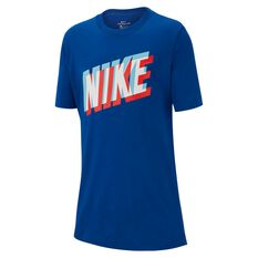 7017a16187b66c Nike Boys Nike Block 3D T-Shirt Blue   Red XS