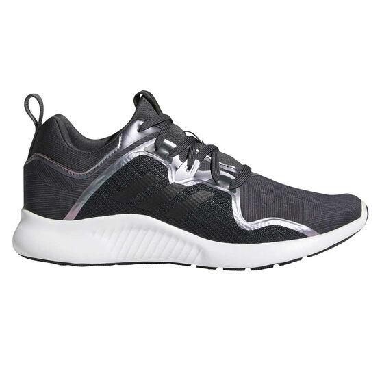 adidas Edgebounce Womens Running Shoes, Grey / Navy, rebel_hi-res