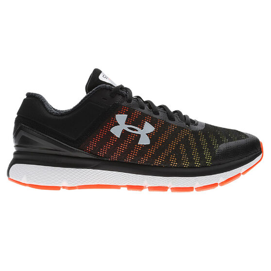 Under Armour Charged Europa 2 Mens Running Shoes, Black / Yellow, rebel_hi-res