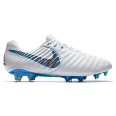 Nike Tiempo Legend VII Elite Mens Football Boots White / Grey US 7, White / Grey, rebel_hi-res