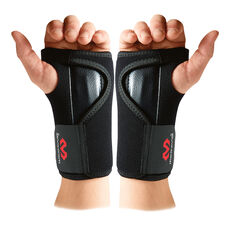 McDavid Adjustable Wrist Brace Black Left Hand, Black, rebel_hi-res
