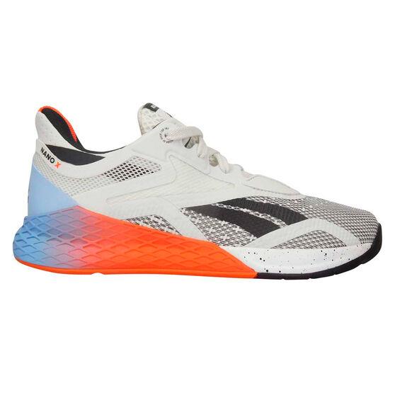 Reebok Nano X Womens Training Shoes, White/Blue, rebel_hi-res