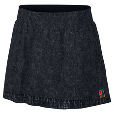 NikeCourt Womens Dri-FIT Slam Skirt Black / White XS, Black / White, rebel_hi-res