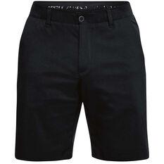 Under Armour Mens Showdown Golf Shorts Black 30 Adult, Black, rebel_hi-res
