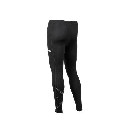 2XU Mens Aspire Compression Tights, Black, rebel_hi-res