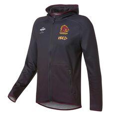 Brisbane Broncos 2019 Mens Team Hoodie Black S, Black, rebel_hi-res