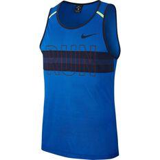 Nike Mens Mesh Running Tank Royal Blue S, Royal Blue, rebel_hi-res