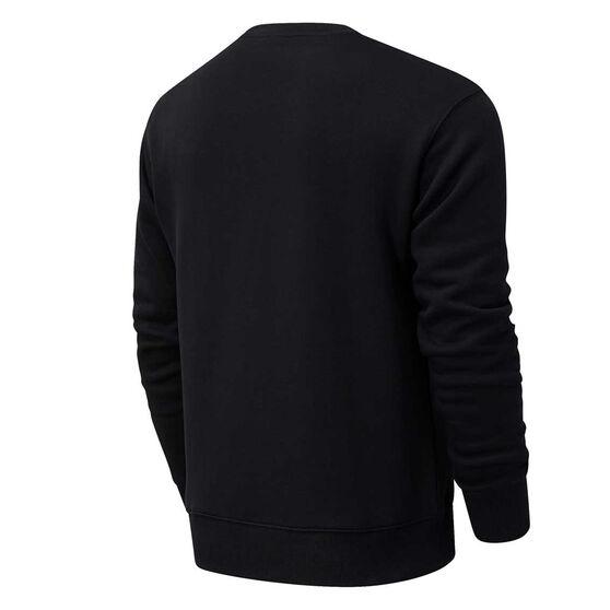 New Balance Athletics Mens Varsity Sweatshirt, Black, rebel_hi-res