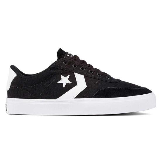 Converse Courtlandt Mens Casual Shoes, Black / White, rebel_hi-res