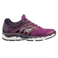 Mizuno Wave Paradox 5 Womens Running Shoes Purple / Silver US 7, Purple / Silver, rebel_hi-res