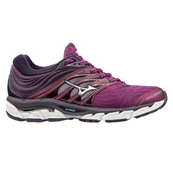 Mizuno Wave Paradox 5 Womens Running Shoes, Purple / Silver, rebel_hi-res