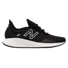 New Balance Fresh Foam Roav Mens Running Shoes Black/White US 7, Black/White, rebel_hi-res