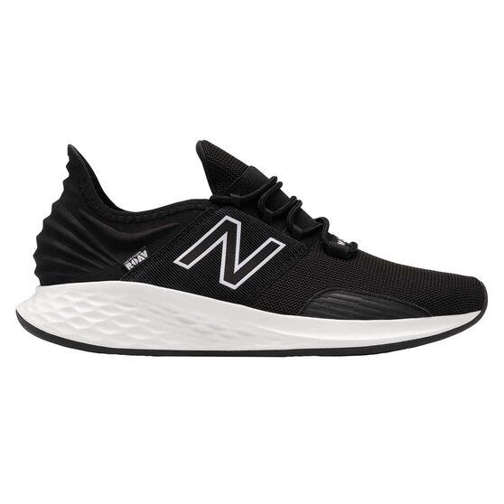 New Balance Fresh Foam Roav Mens Running Shoes, Black/White, rebel_hi-res