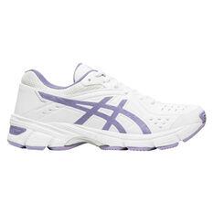Asics Gel 195TR D Womens Training Shoes White / Blue US 6, White / Blue, rebel_hi-res