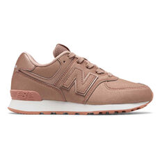 New Balance 574 Kids Casual Shoes Pink US 11, Pink, rebel_hi-res
