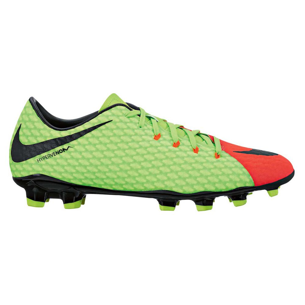 a801db0849 Nike Hypervenom Phelon III Mens Football Boots Green / Black US 9 Adult,  Green /