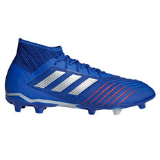 cab5ca8cd adidas Predator 19.2 Mens Football Boots Blue   Silver US Mens 7   Womens  8