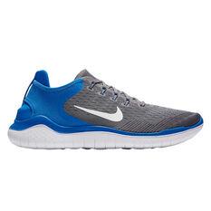 Nike Free RN 2018 Mens Running Shoes Grey / White, Grey / White, rebel_hi-res