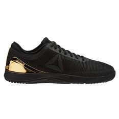 Reebok CrossFit Nano 8 Flexweave Mens Training Shoes Black / Gold US 7, Black / Gold, rebel_hi-res