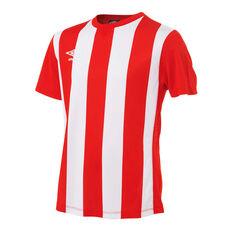 Umbro Kids Striped Jersey Red / White XS, Red / White, rebel_hi-res