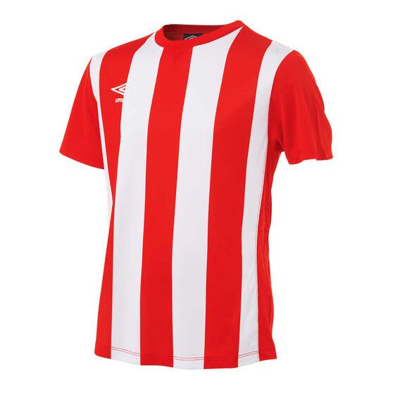 Umbro Kids Striped Jersey, Red / White, rebel_hi-res