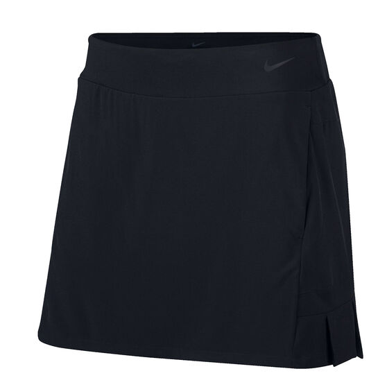 Nike Womens Flex 15 Inch Golf Skirt, Black, rebel_hi-res