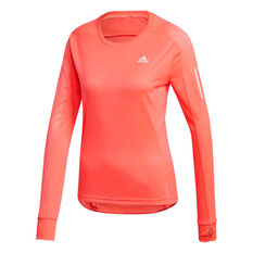 adidas Womens Own the Run Top Pink XS, Pink, rebel_hi-res