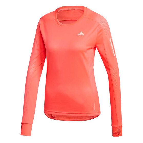 adidas Womens Own the Run Top, Pink, rebel_hi-res