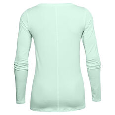 Under Armour Womens HeatGear Armour Top Blue XS, Blue, rebel_hi-res