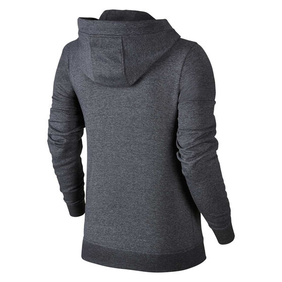 Nike Womens Sportswear Fleece Hoodie, Grey, rebel_hi-res