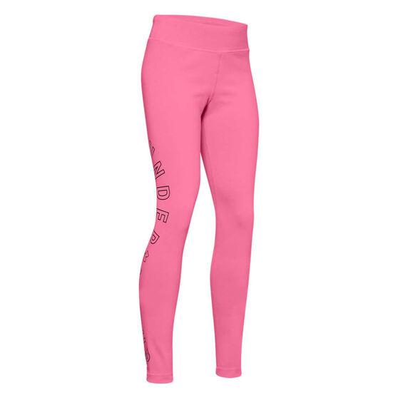 Under Armour Girls Favourite Leggings Pink / Black M, Pink / Black, rebel_hi-res