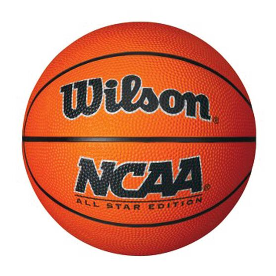 Wilson NCAA Mini Basketball Orange 3, Orange, rebel_hi-res