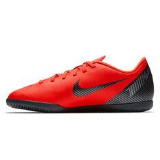 Nike Mercurial Vaporx 12 Club CR7 Junior Indoor Soccer Shoes Red / Black US 3, Red / Black, rebel_hi-res