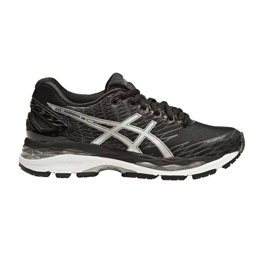 Asics Gel Nimbus 18 Womens Running Shoes Black   White US 7  68cec5301d