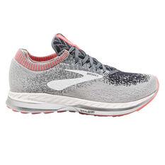 Brooks Bedlam Womens Running Shoes Grey / Pink US 6, Grey / Pink, rebel_hi-res