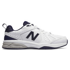New Balance 624 V4 2E Mens Cross Training Shoes White / Navy US 7, White / Navy, rebel_hi-res
